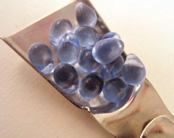 Czech Glass 6mm drop beads  blue 42