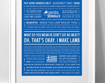 My Big Fat Greek Wedding Typography Print