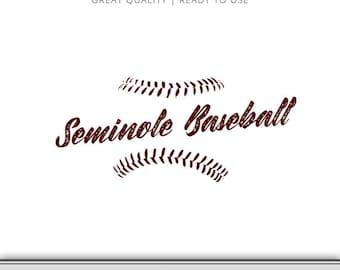 Florida State Seminole Baseball Graphic - Florida State SVG - Seminole SVG - FSU - Ready to Use!