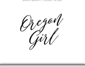 Oregon Girl Graphic - Cut Files Included - Oregon Girl svg - Oregon SVG - Digital Download - 7 Formats Ready to Use!