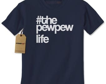 The PewPew Pew Pew Life Gun Rights Mens T-shirt