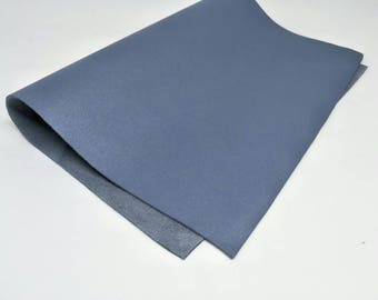 "Leather Scrap, Genuine Leather, Leather Pieces, Gray, Size 8.25"" by 11.5""  Leather Scrap for DIY Projects."