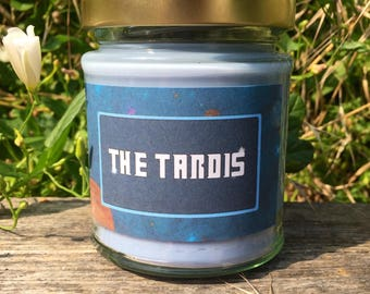 Doctor Who inspired Tardis candle