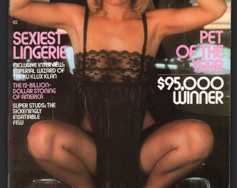 Mature Vintage Penthouse Magazine Mens Girlie Pinup : November 1978 VG+ White Pages, Complete With Intact Centerfold