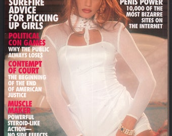 Mature Vintage Penthouse Magazine Mens Girlie Pinup : November 1996 VG+ White Pages Intact Centerfold