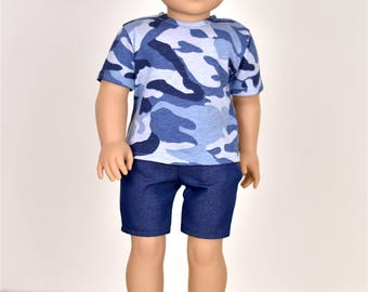 18 inch Boy Doll Clothes Top