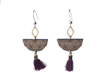 NORI Plum Gold filled earrings
