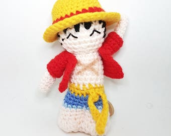 Monkey D Luffy amigurumi doll