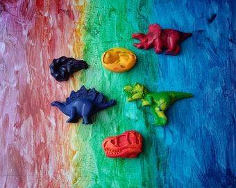 Dinosaur Crayons, Fossil Crayons, Rainbow, Dinosaur, Gift, Crayons, Animal