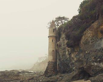 Laguna Beach Photography, Lookout Tower, Pirate Tower, Laguna Beach Tower, Laguna Beach Art, Beach Decor, Beach Print, Fine Art Photography