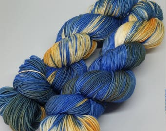 Malibu Sunset - Platinum Sock Yarn - Superwash Merino + Nylon - 75/25 - Ready to ship