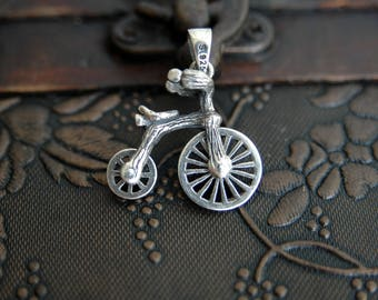 Bicycle, Bicycle necklace, Bicycle charm, sterling silver bicycle, bicycle pendant, Bike necklace, bike pendant (P53)