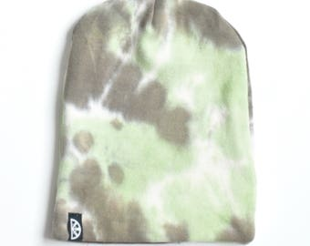 Green tye dye slouchy