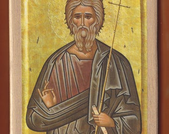Saint Andrew the Apostle, Protoklitos (the first to be called). Christian orthodox icon.FREE SHIPPING