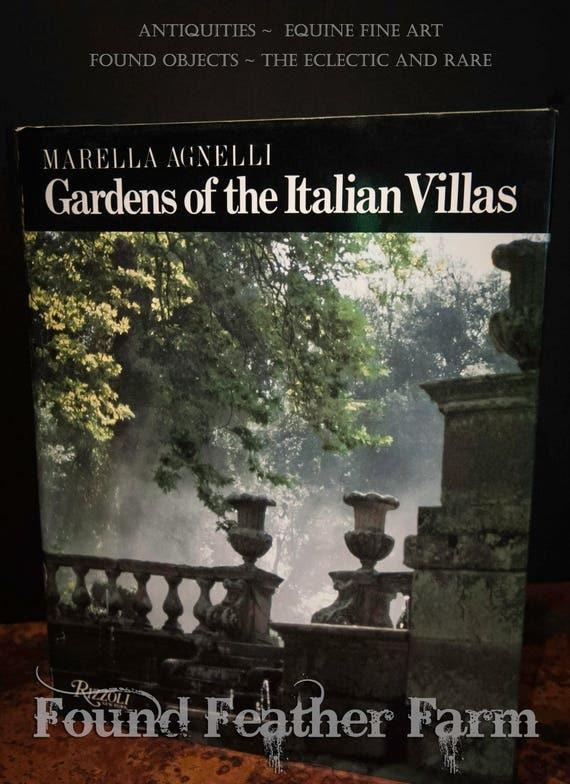 """Vintage Hard Cover Tabletop Book """"Gardens of the Italian Villas"""" Circa 1987"""