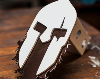 Bearded Leonidas Trailer Hitch Cover