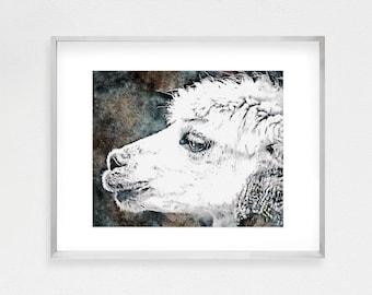 Nursery Animal Art, Alpaca Print, Alpaca Wall Art, Printable Poster, Instant Download, Modern Minimalist, Alpaca Printable,Nursery Printable