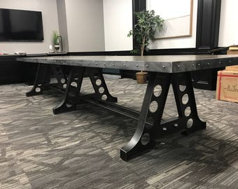 Charming Industrial A Frame Conference Table / Kitchen Table