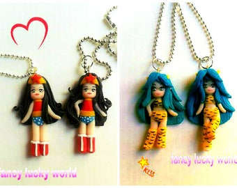 Necklace inspired by Wonder woman and Urusei Yatsura