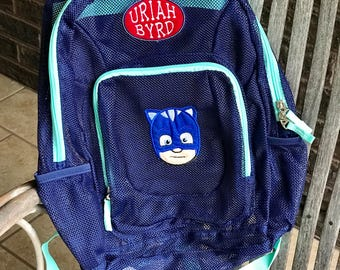 Monogrammed Backpack | Mesh Backpack | PJ Mask Backpack | Boys Backpack | Gekko Backpack | Catboy Backpack | Owlette Backpack