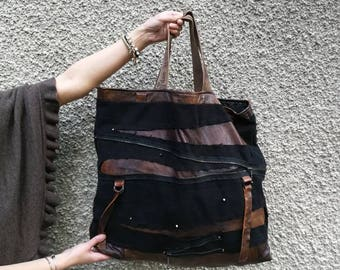 Waxed Canvas Tote Bag,canvas bag women handbag canvas tote bag for women leather bag shoulder bag leather  canvas travel bag market bag