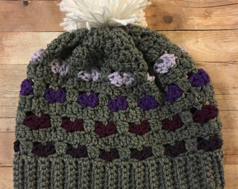 Ombre Heart Slouchy Hat