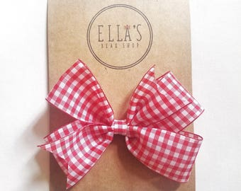 Red and white gingham!
