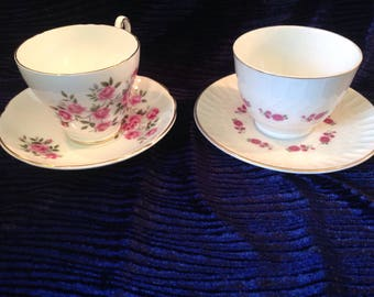 Pair of teacups with saucers