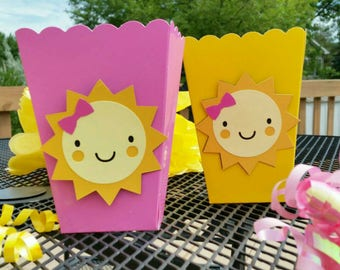 10 You Are My Sunshine Inspired Snack/Favor Boxes, Sunshine Favors,