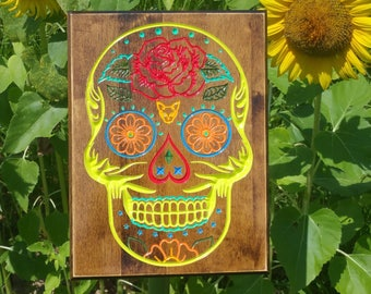 Sugar Skull Day of the Dead Mexican Wall Art Sign