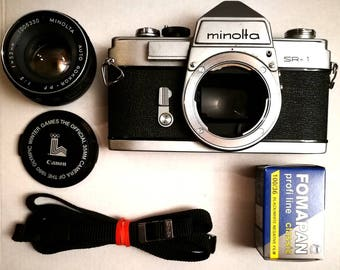 Minolta SR-1 with New Light Seals. Ready-To-Use Vintage 1960s SLR Camera with 55 mm Lens