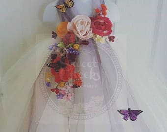 Ivory Flower girl dress, Halloween Costume, Fairy dress, Fairy costume, Flower girl tutu dress, tutu dress, ivory dress, Garden wedding