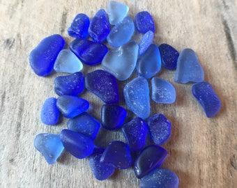 Cobalt & Cornflower Sea Glass