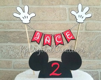 Mickey Mouse Cake Topper, Mickey Mouse Birthday, Mickey Mouse Baby Shower, Mickey  Mouse