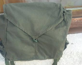 Vintage crossbody bag, Green army bag,Teen bag
