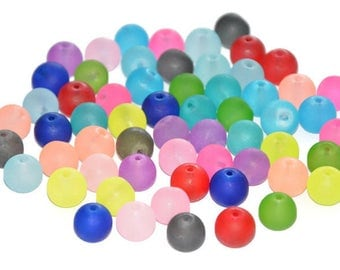blend 60 frosted glass beads 10 mm