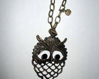 Necklace ღ bronze OWL or OWL ღ / unique