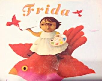 Frida, by Jonah Winter,Ilustrado por Ana Juan,Spanish or English,Famous Mexican Artist, Art Teacher Paperbacks,Gift for Boys, Gift for Girls