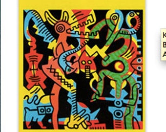 Keith Haring,Postcard Paintings Book,Reproductions,Artsy,Collectible,Gift for Women, Gift for Men, Pop Art Postcards, Holiday Gift