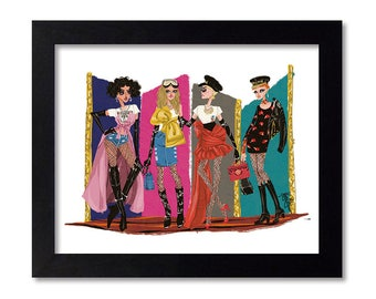MOSCHINO - Fashion Illustration Print Fashion Print Fashion Art Fashion Wall Art Fashion Poster Fashion Sketch illustration Art Print