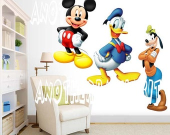 Mickey Goofy and Donald Wall Decal Room Decor Sticker
