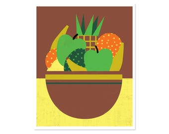 "Fruit Bowl Poster - 16""x20"""