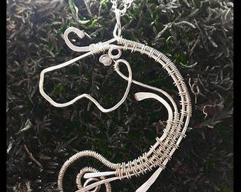Wire wrapped Sterling Silver Horse