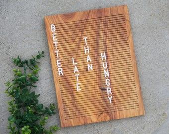 Wooden Letter Board 9x12 - Canary Wood - Letterboard, Message Board, Felt Board, Modern Farmhouse, Modern Cabin, Natural, Handcrafted, Wood