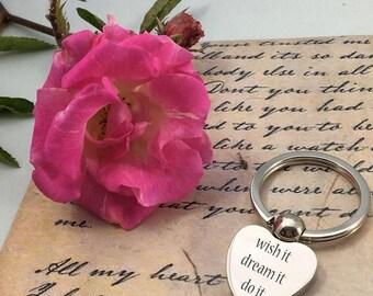 Personalised ENDLESS LOVE heart shape keyring