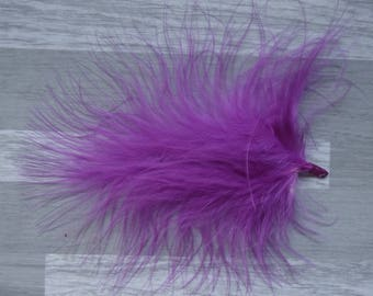 Set of 10 feathers Volupte Eggplant