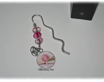 Bookmarks jewelry pink flower