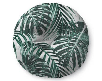 Tropical Leaves  - floor pillow