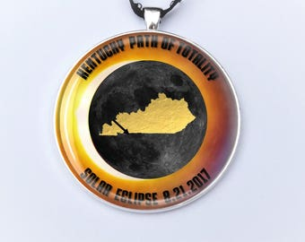 """Kentucky Path of Totality Total Solar Eclipse 2017 Ornament - 2"""" Kentucky Total Solar Eclipse- Car Rear View Mirror Ornament"""