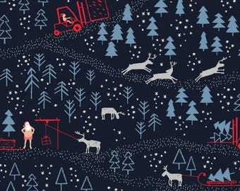 North Pole After Dark in Multi ~ Northpole After Dark  Collection by Dear Stella Designs